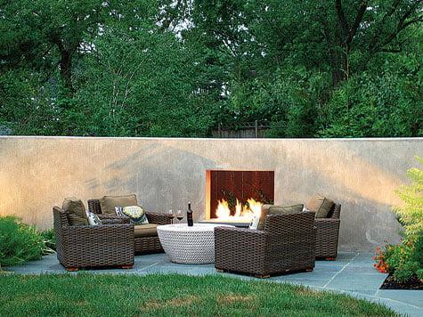 Backyard - Fireplace