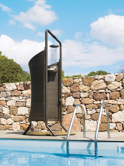 Folding screen - Swimming pool