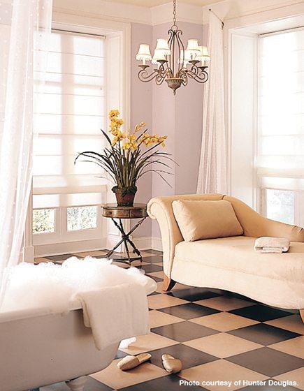 Living room - Roman shade