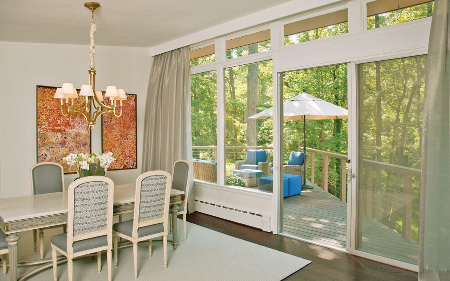 Window treatment - Dining room