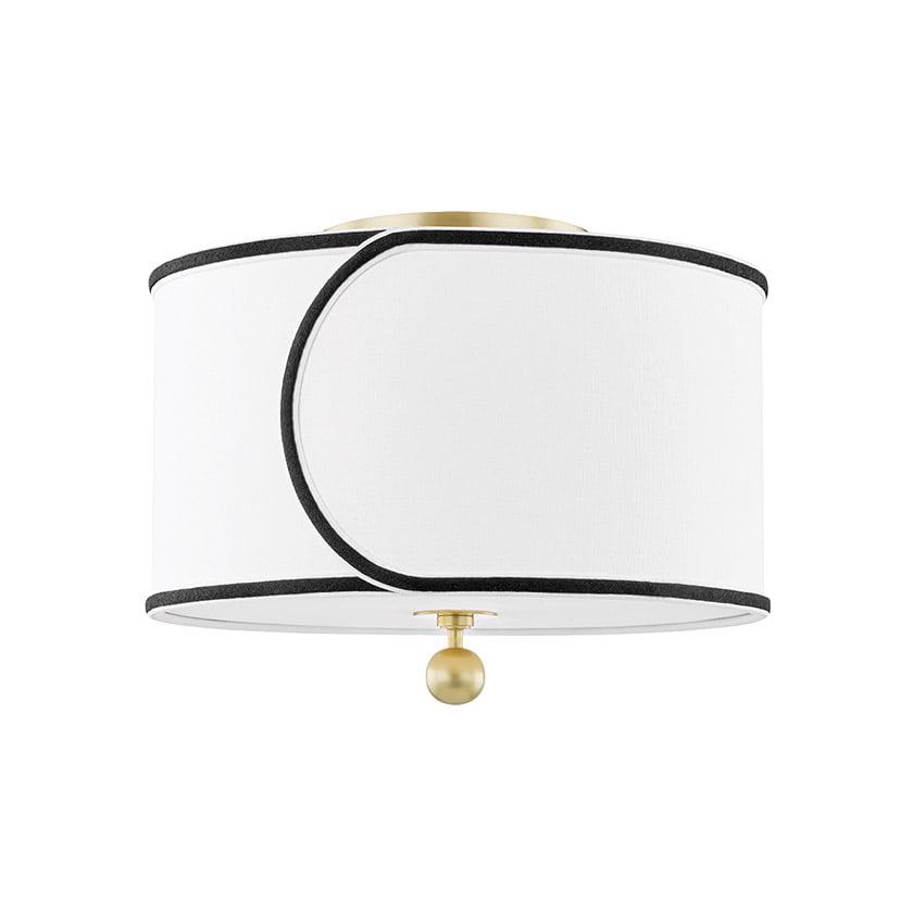The Zara semi-flush mount fixture from Mitzi by Hudson Valley Lighting.