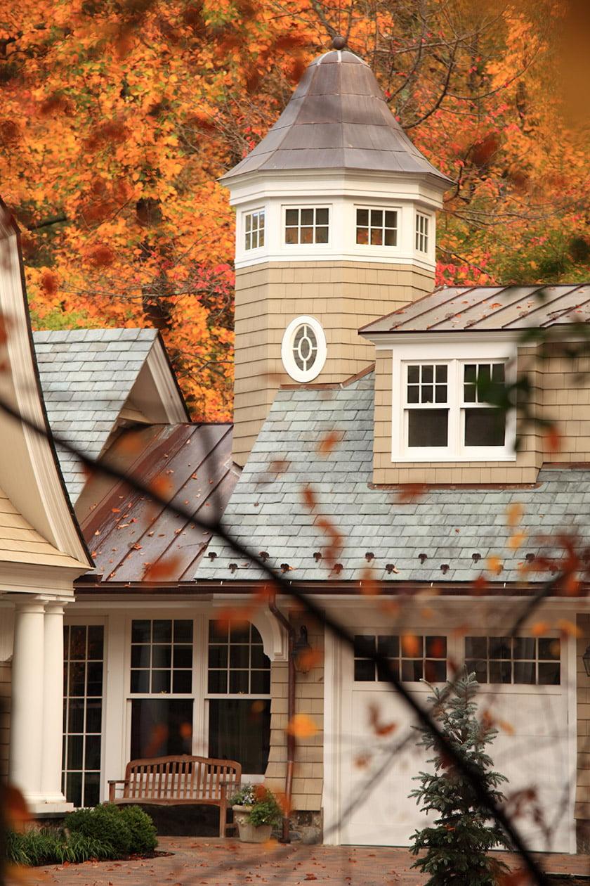 Classic columns and trim detailing now enhance the façade.