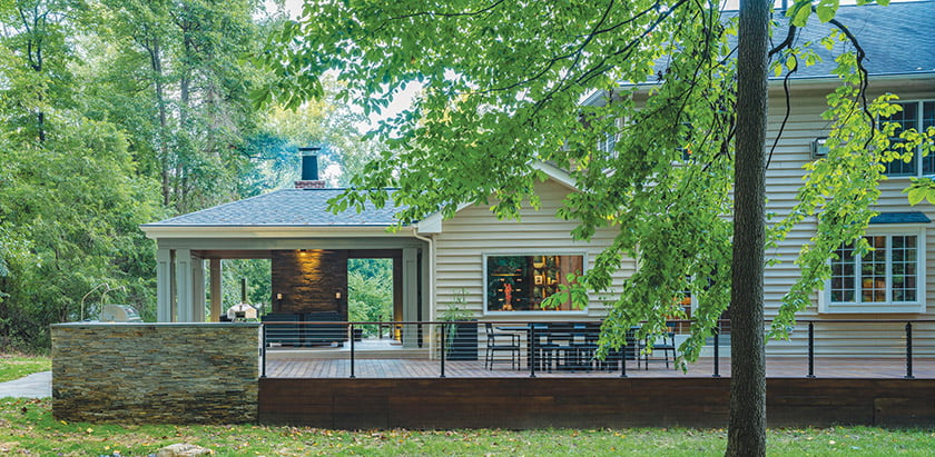 AIA Baltimore Honorable Mention Award for Greenspring Valley Residence: Marren Architects. © Alan Gilbert