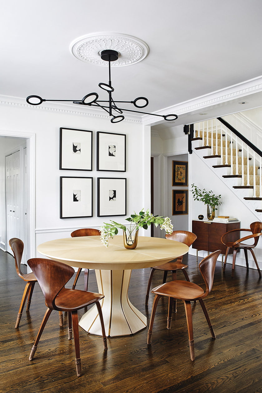 A round, entry hall-style table
