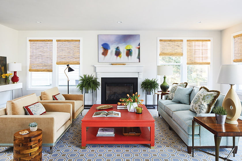 Austin mingled disparate styles in the living room.