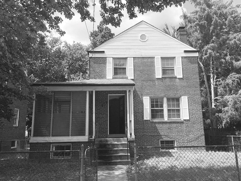 before facade and porch