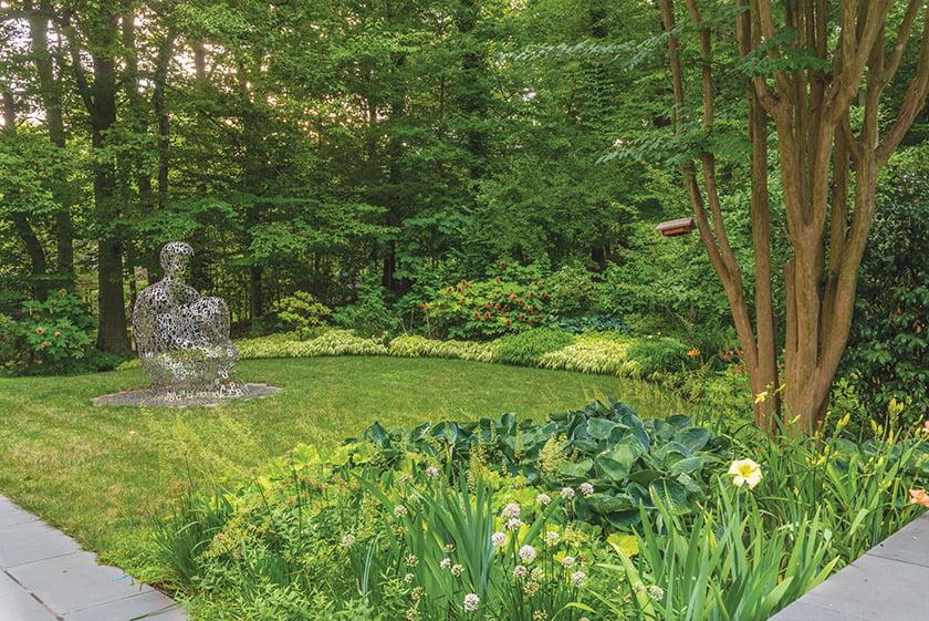 Garden sculpture by Jaume Plensa