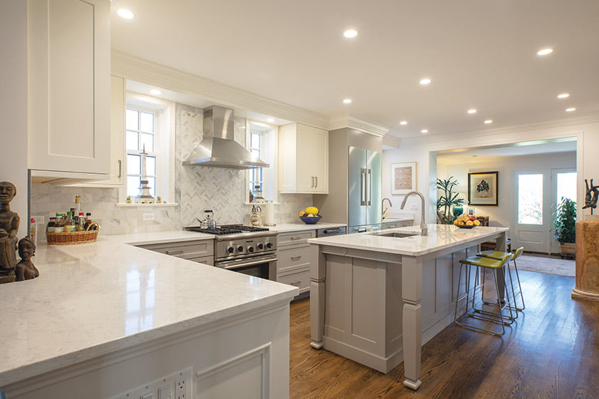 Kitchen flows into family room