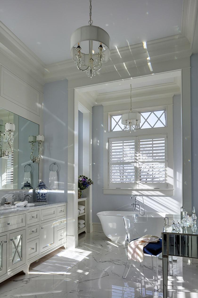 marble clad bath