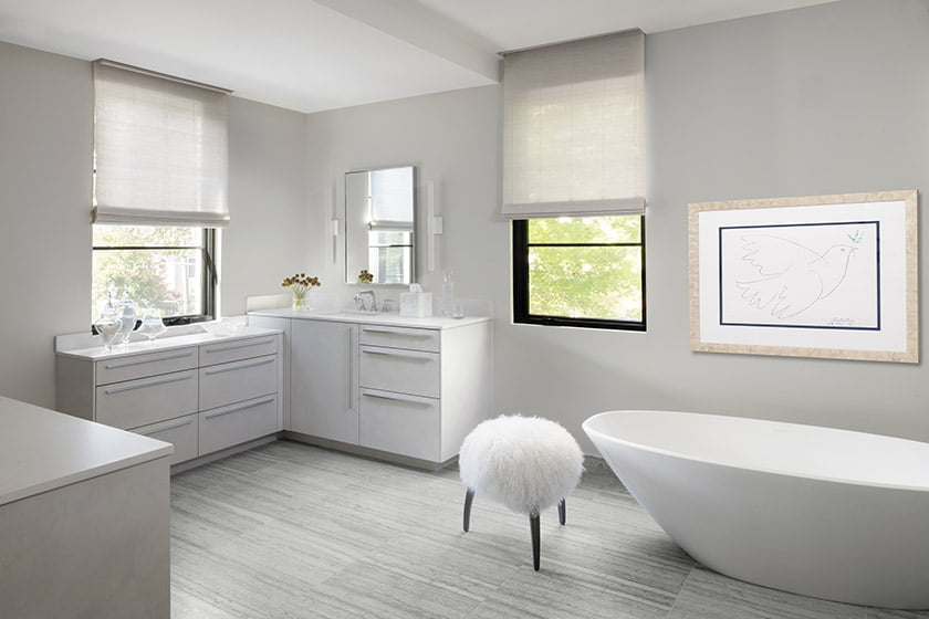 Original Picasso above Victoria & Albert tub in owners bathroom