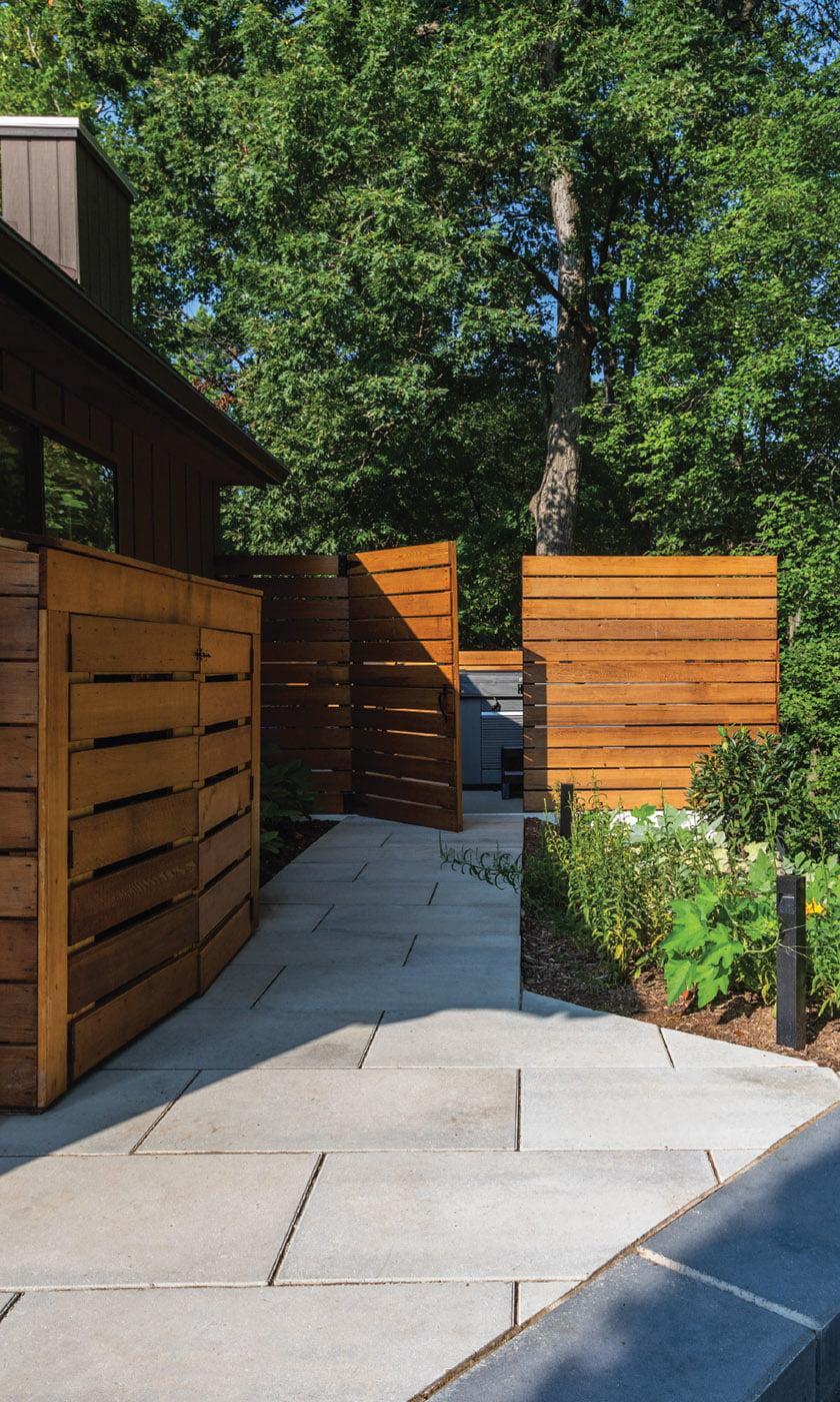 Ed Ball Landscape Architecture cedar privacy fence