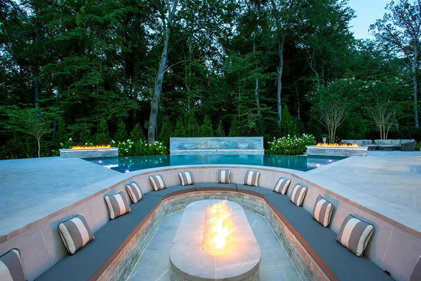 Grow Landscapes, Inc integrated linear fire pit