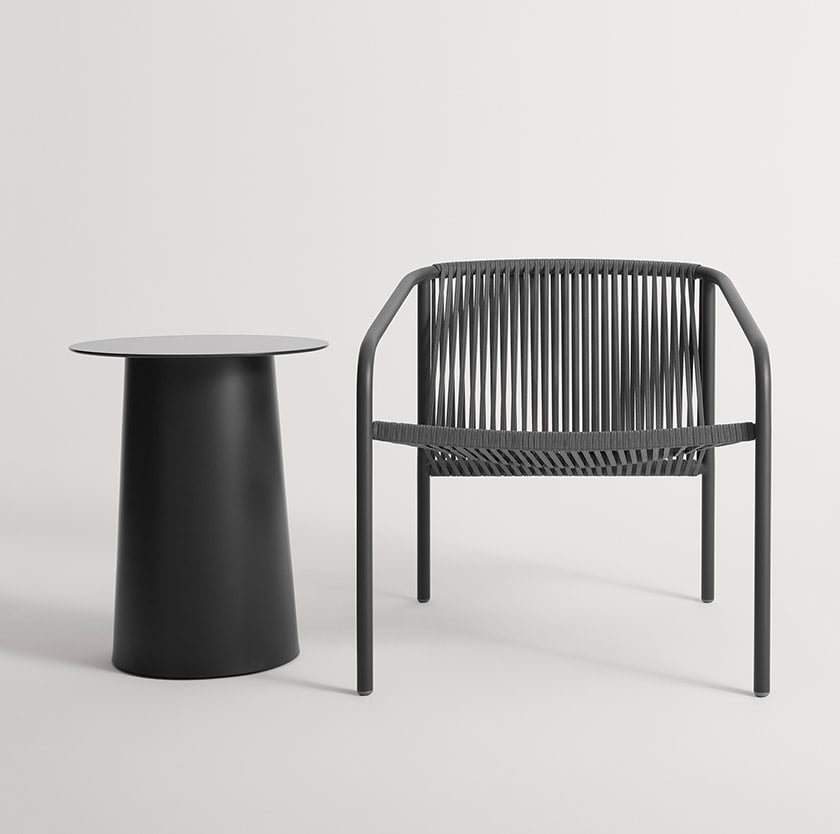 Blu Dot's clean-lined Lookout Outdoor Lounge Chair.