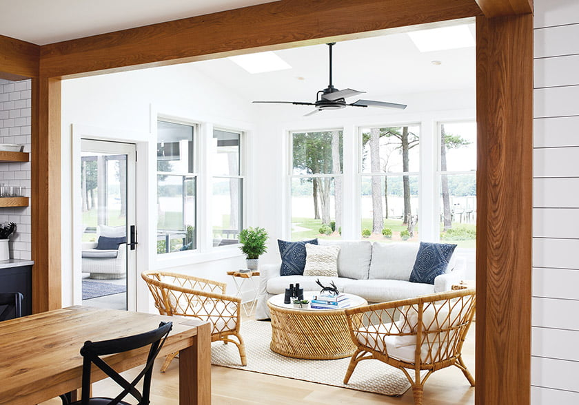 Dining area and sunroom