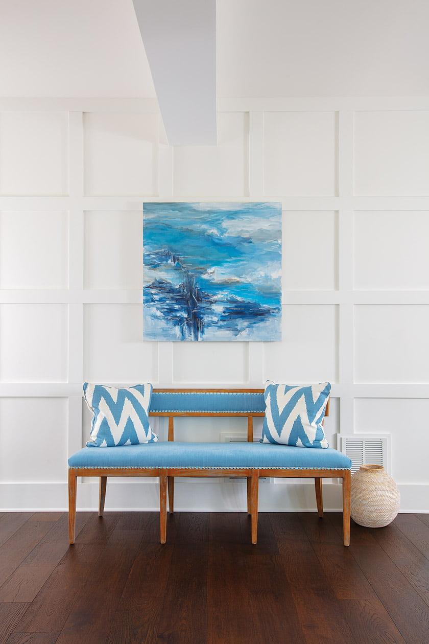 入口大厅长凳与suzanne yurdin的艺术