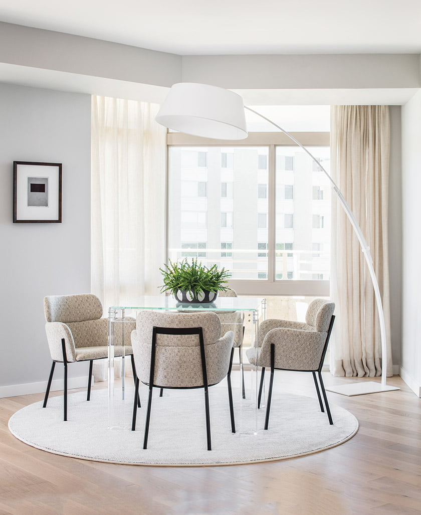 Interlude game table with chairs