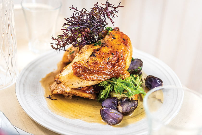 Lemon and Thyme Roasted Pennsylvania Chicken from Nina May
