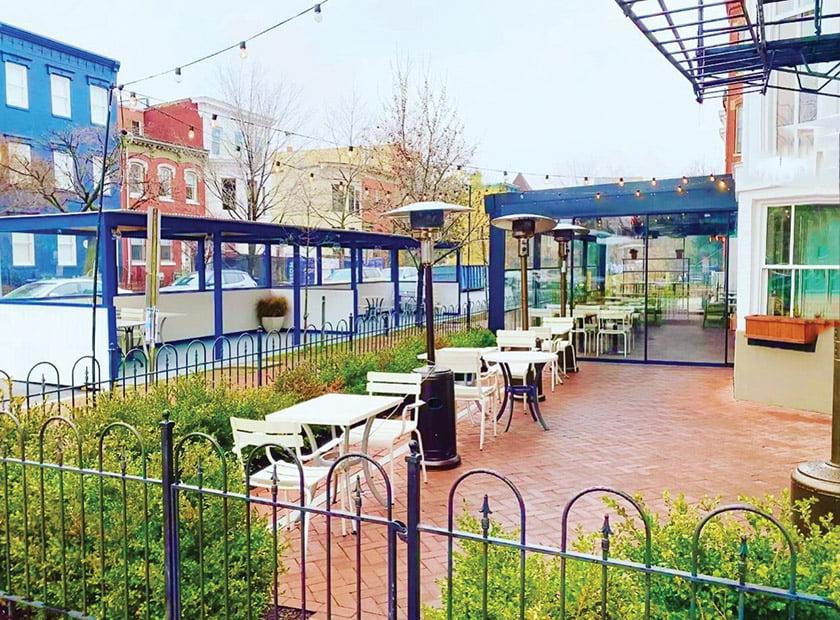 Nina May pergola patio
