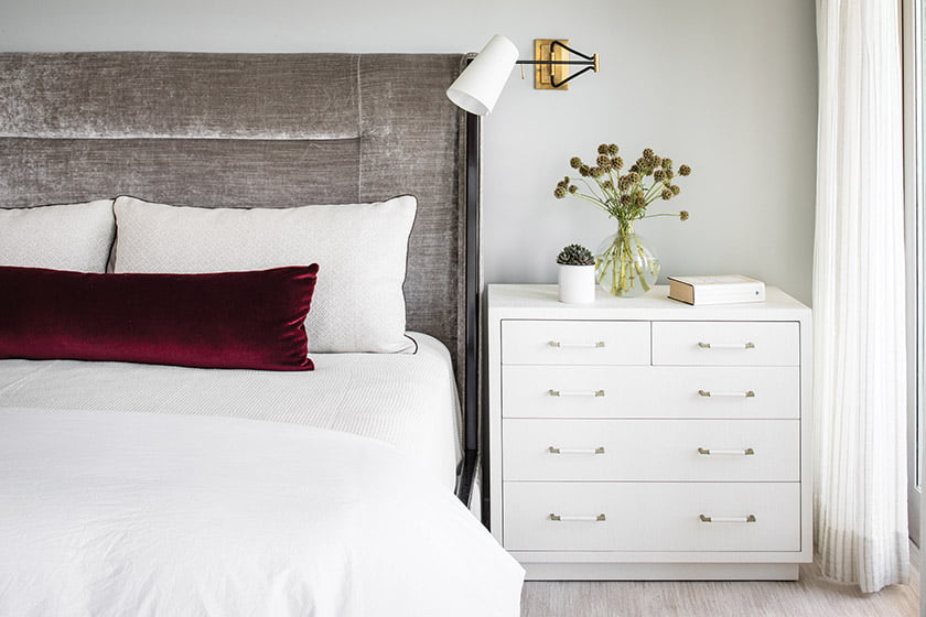 Theodore Alexander bed with Romo fabric