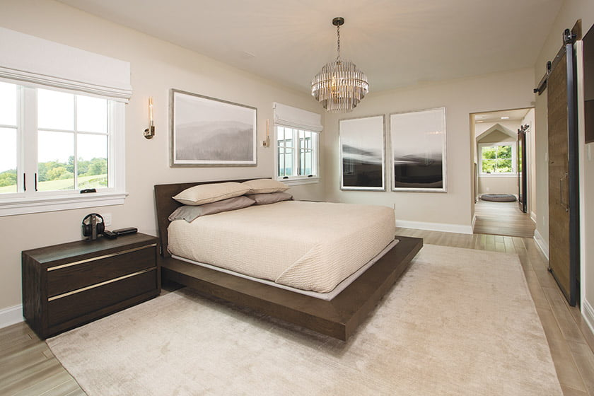 Large owners suite bedroom