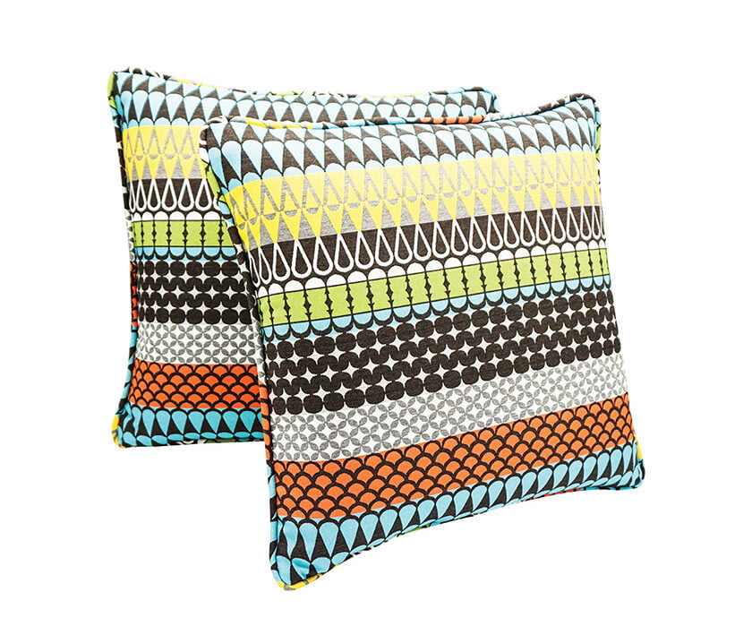 Colorful pillows by Pillow Punk