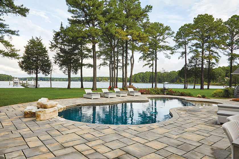 Pool and boat dock on grace creek