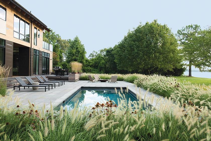 游泳池 - 露台餐厅 - 和厨房