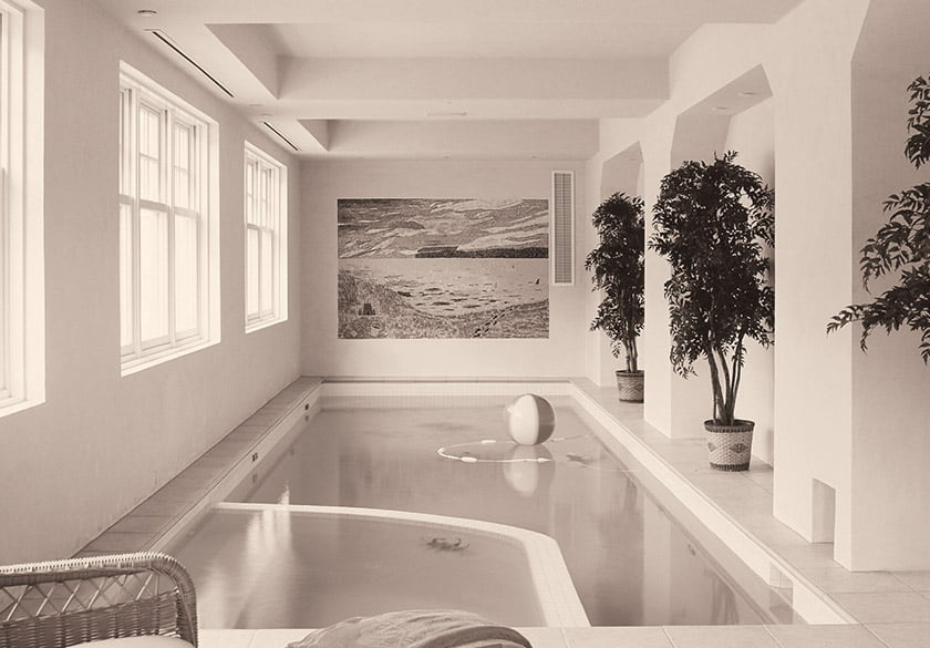 Before indoor pool