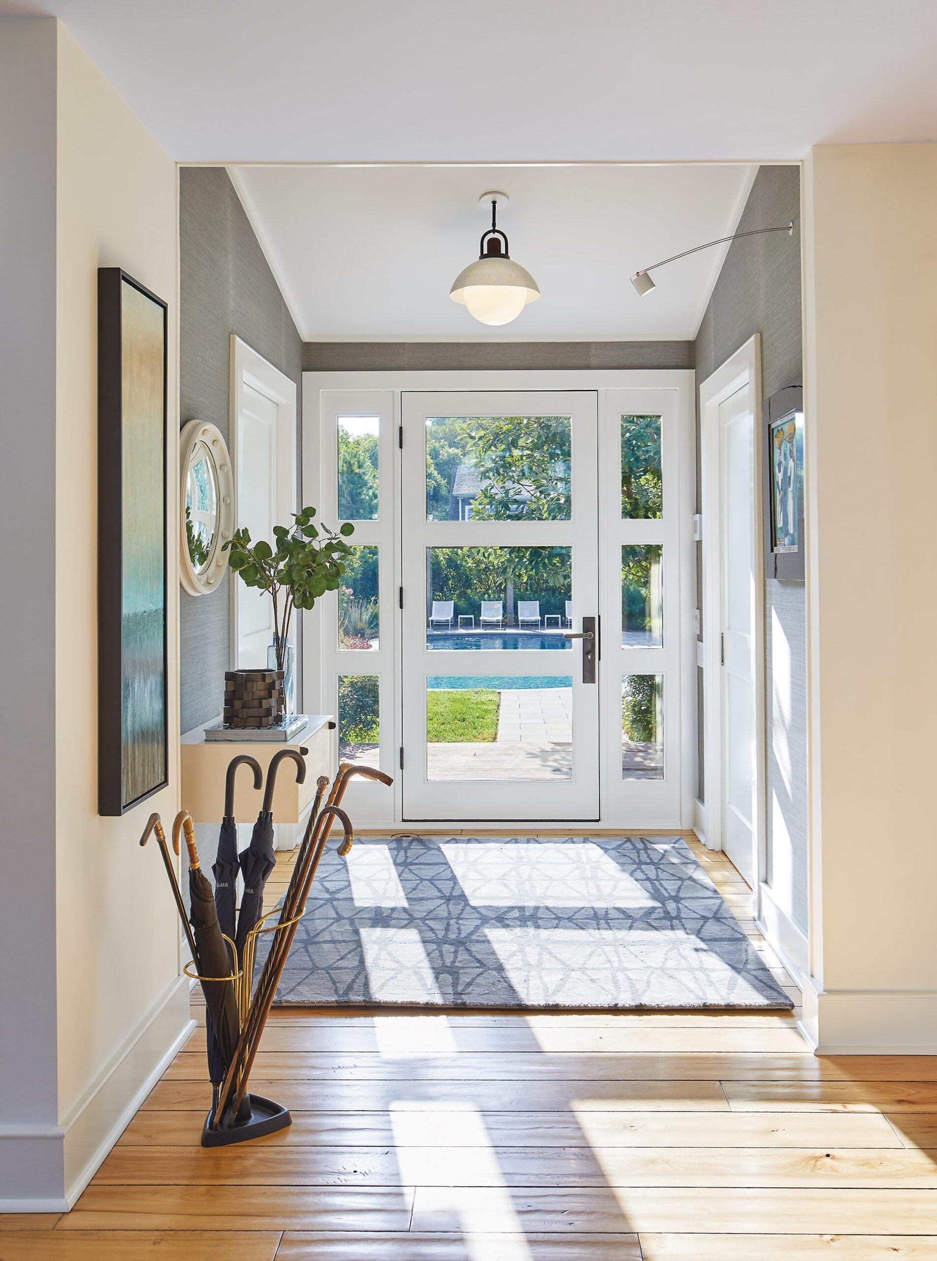 Front entrance custom door.