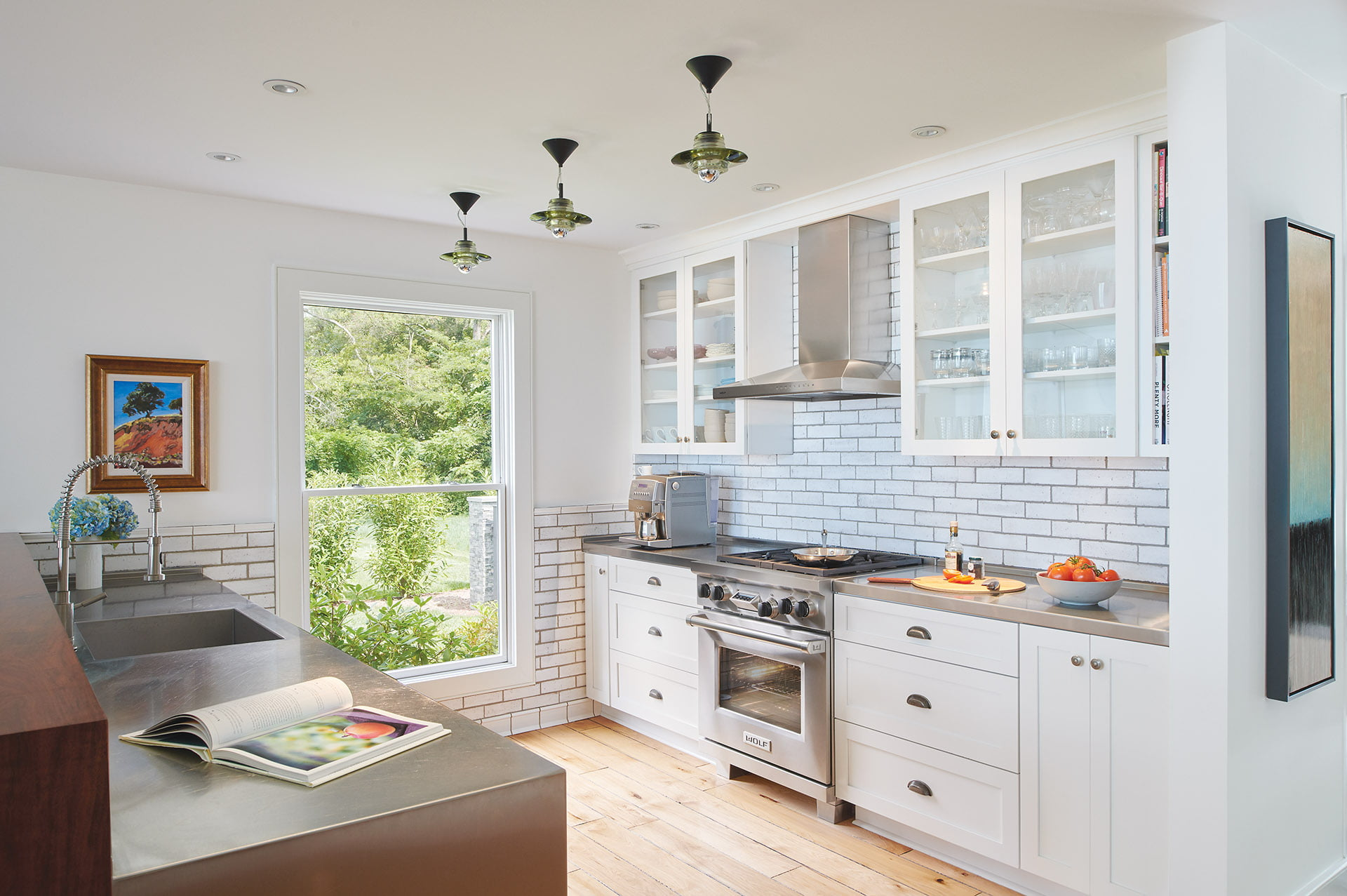 Stainless-steel kitchen countertops