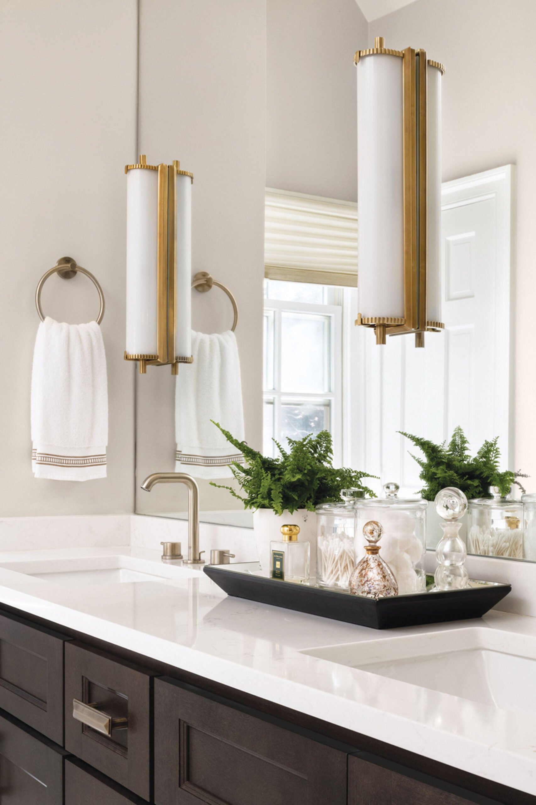 Vanity with sconces from Circa Lighting.