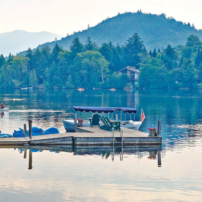 Mirror Lake boat dock