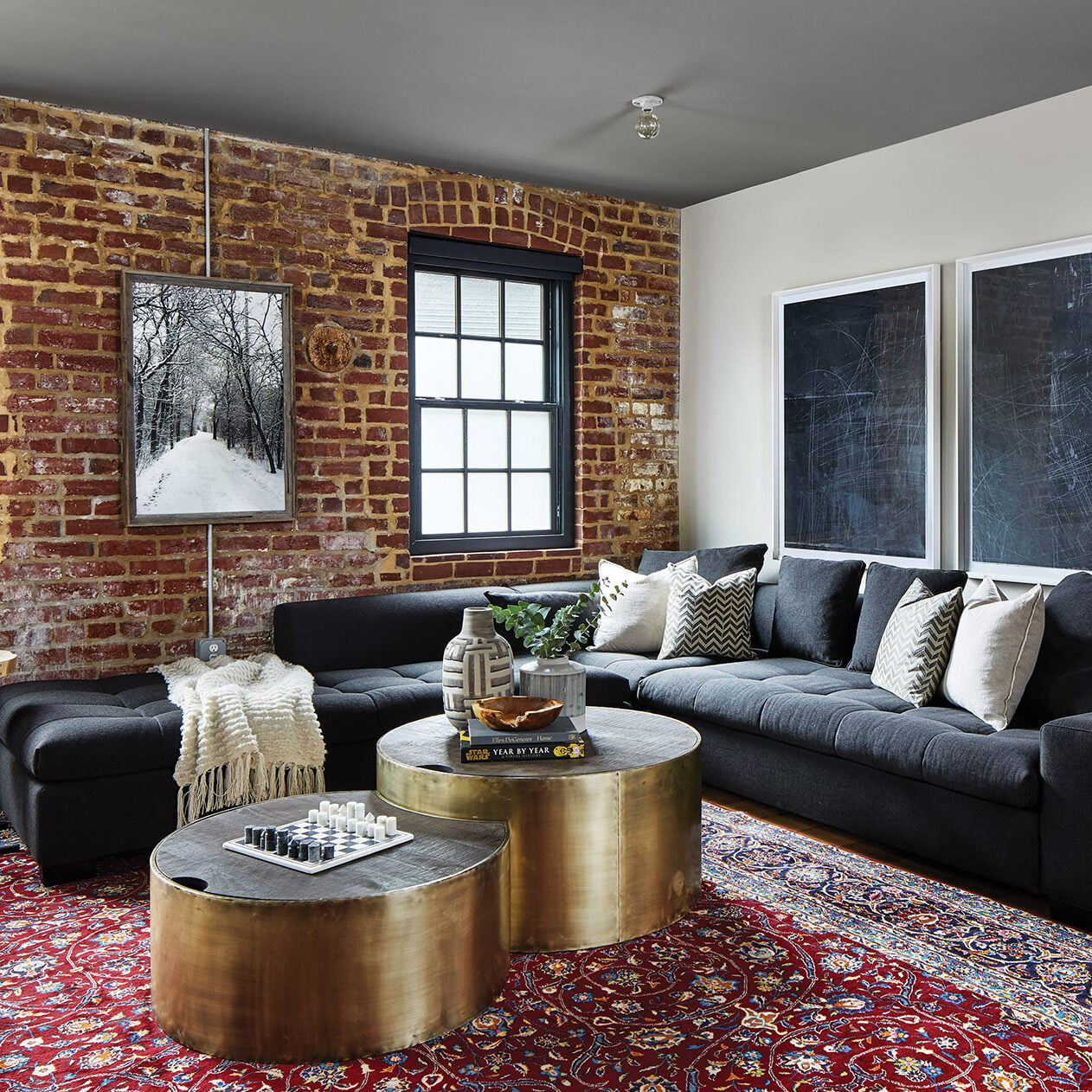 Industrial-chic condo located in a revamped 1902 factory in DC.