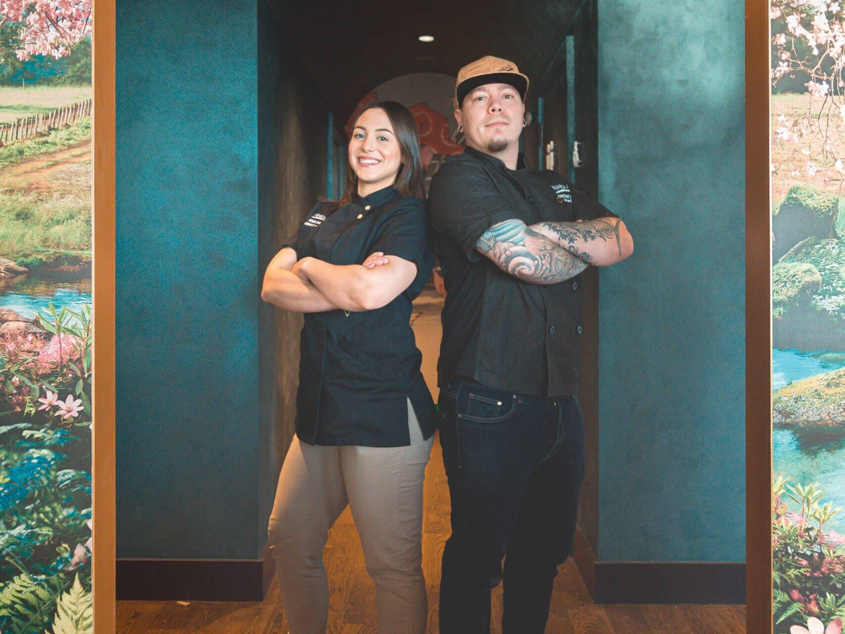 Sous chef Albani Caolo and executive chef Lucas Irwin