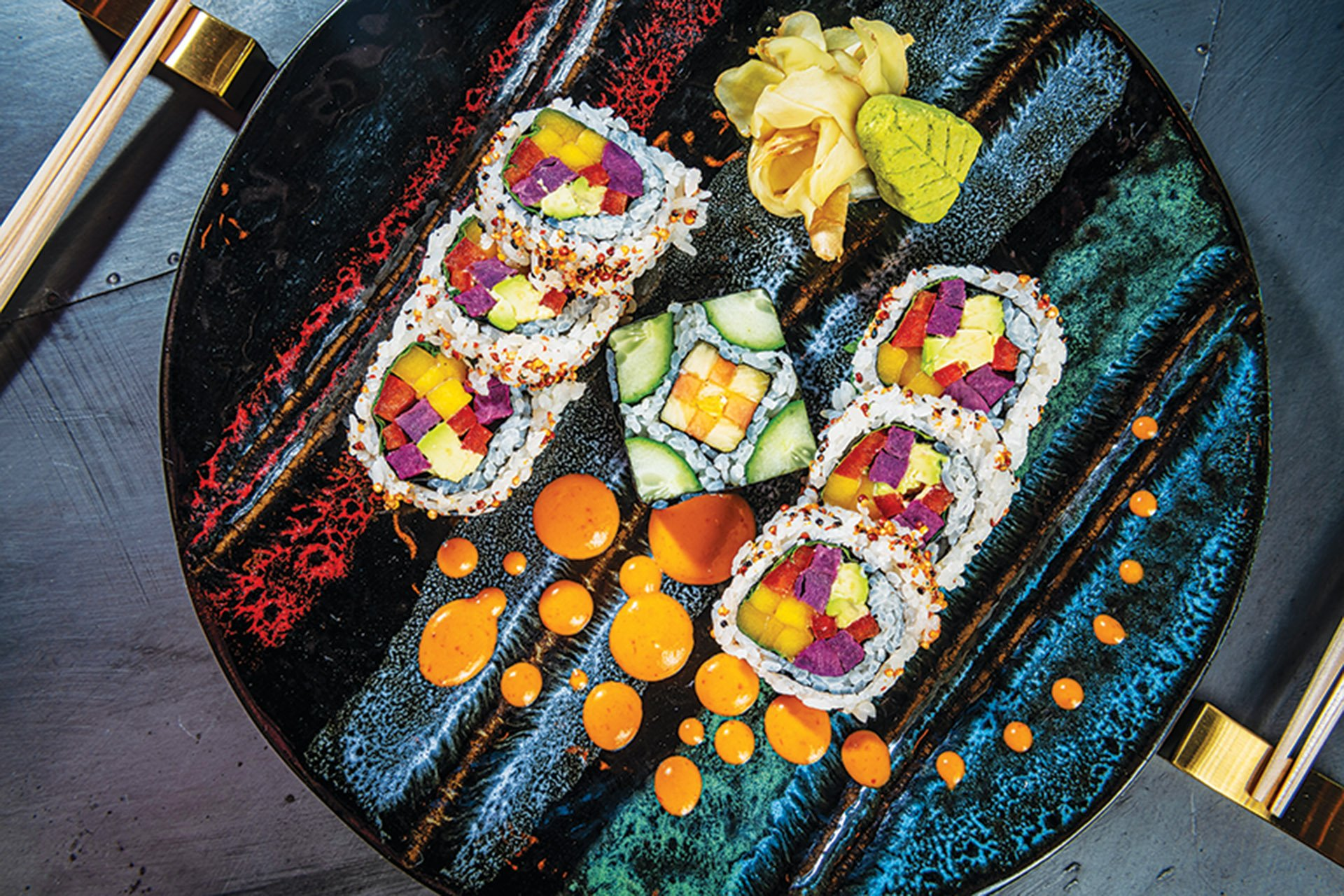 Nara-Ya vegetable sushi