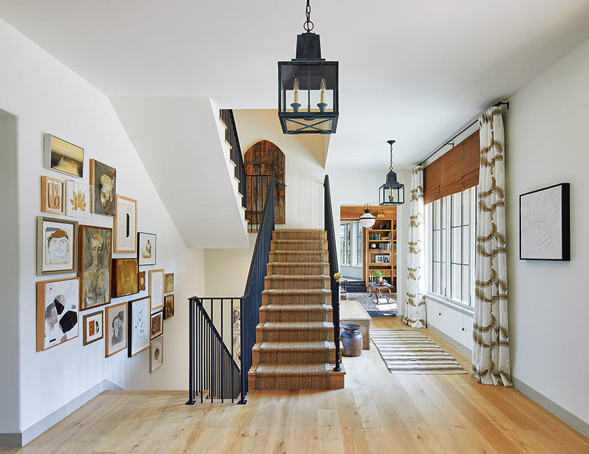 Entry hall and stair landing