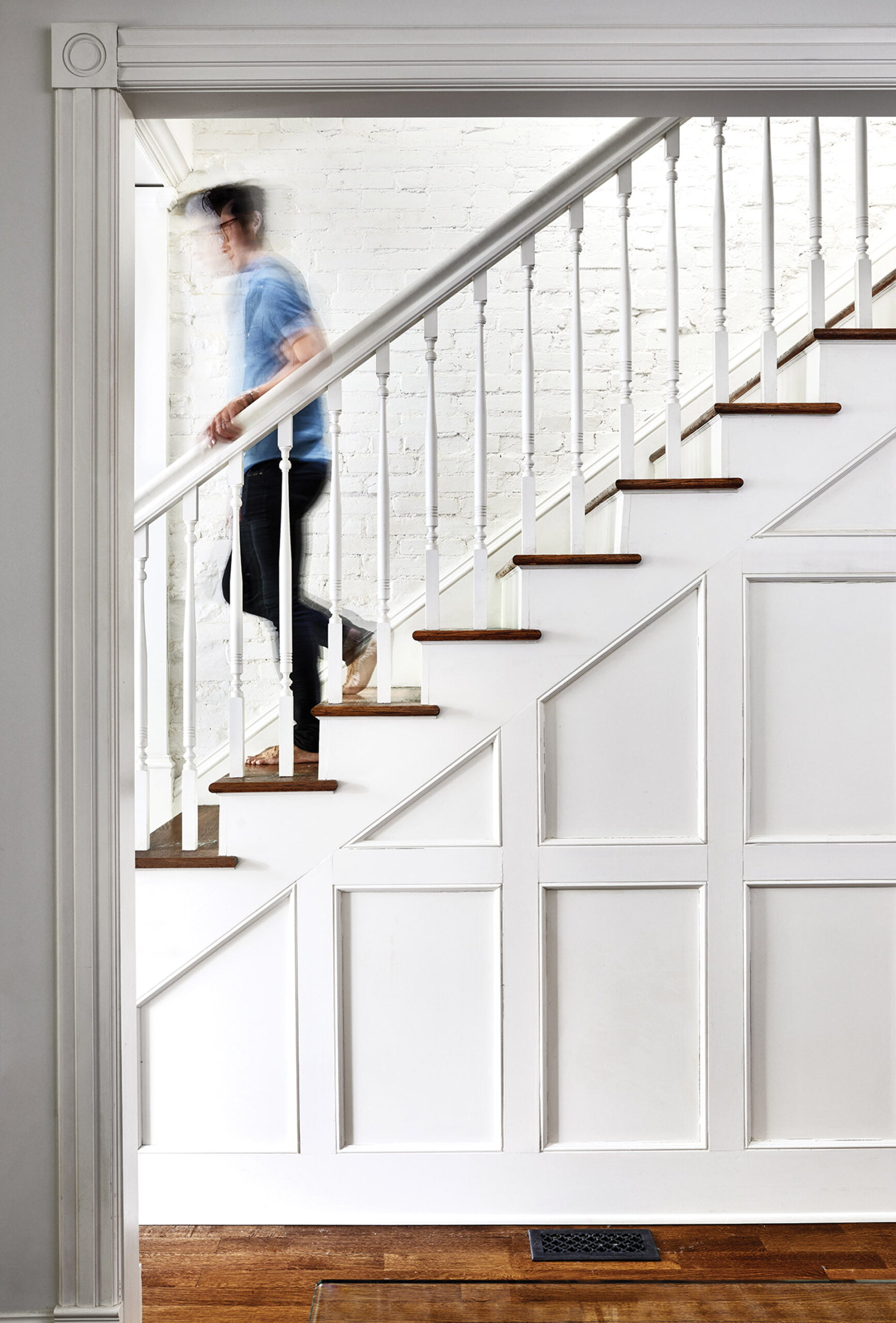Open and airy main staircase