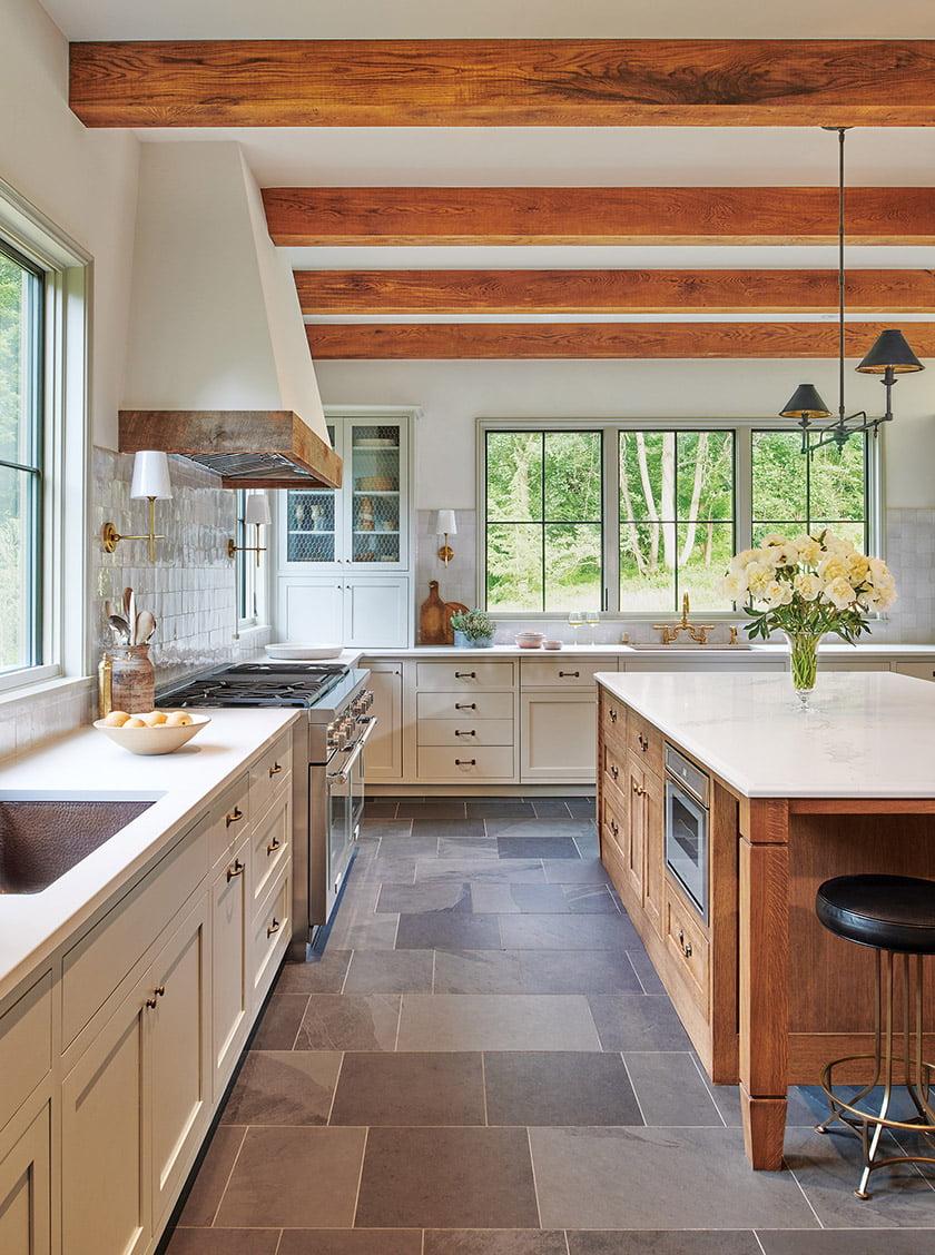 White oak kitchen island