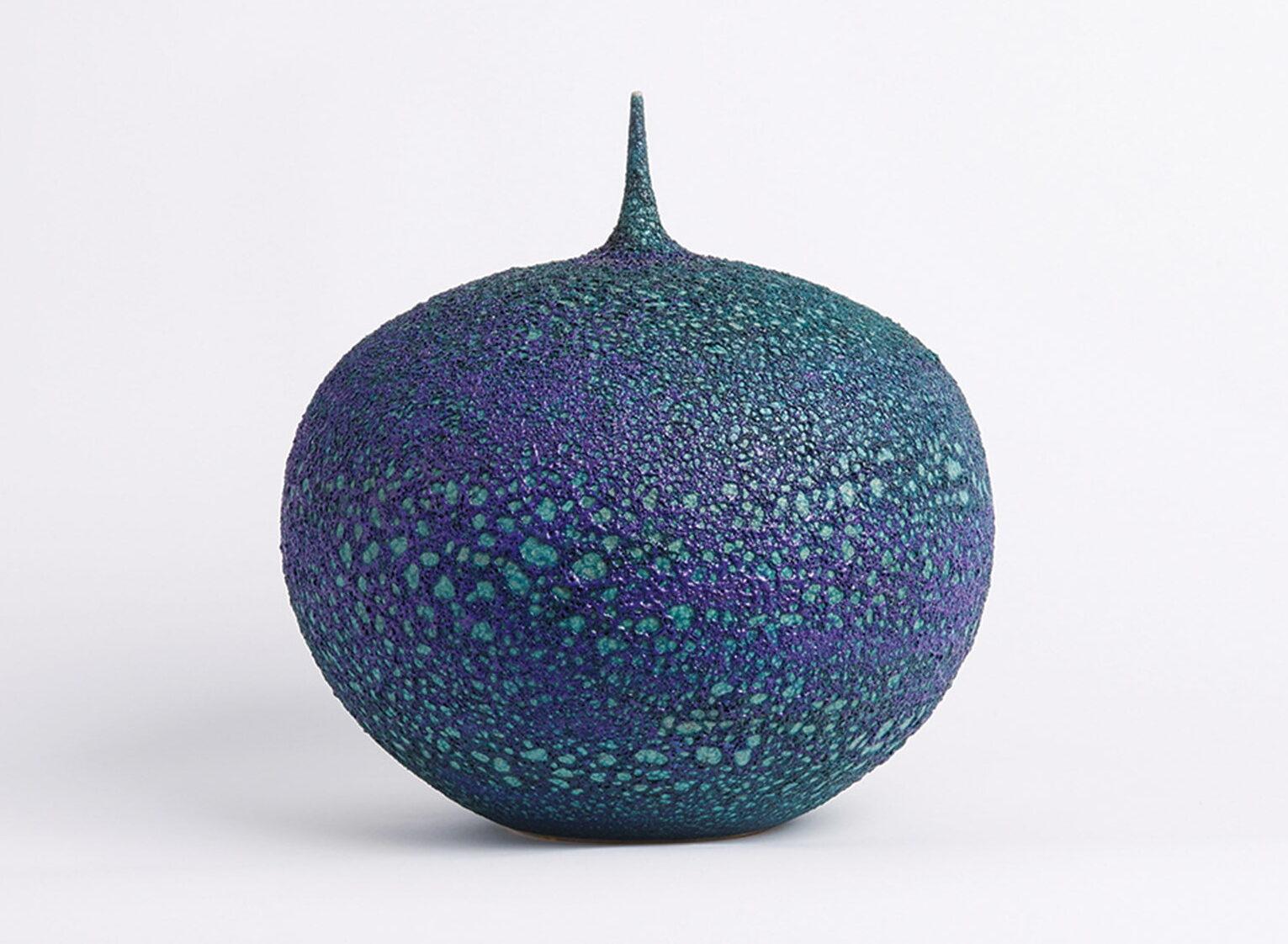 Porcelain teardrop vessel by Cliff Lee