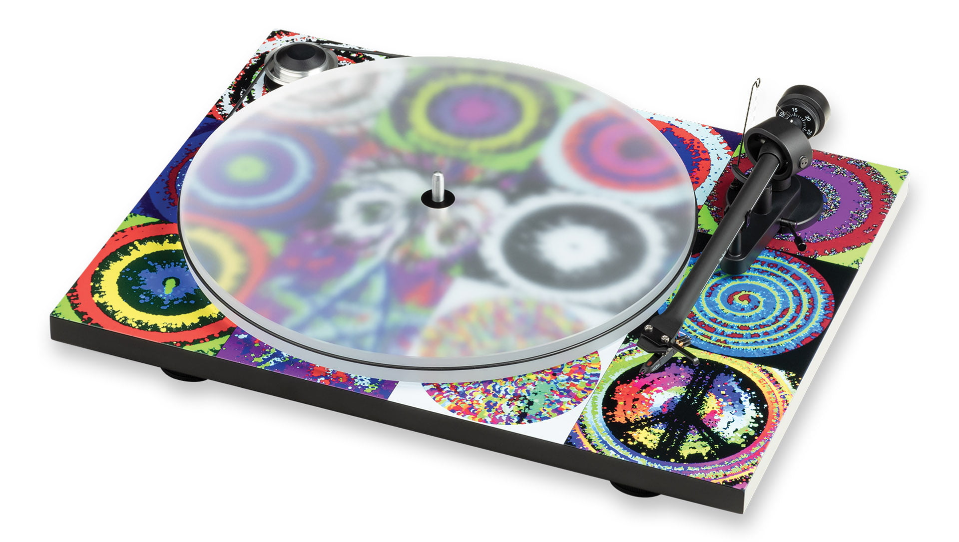 Peace and love turntable