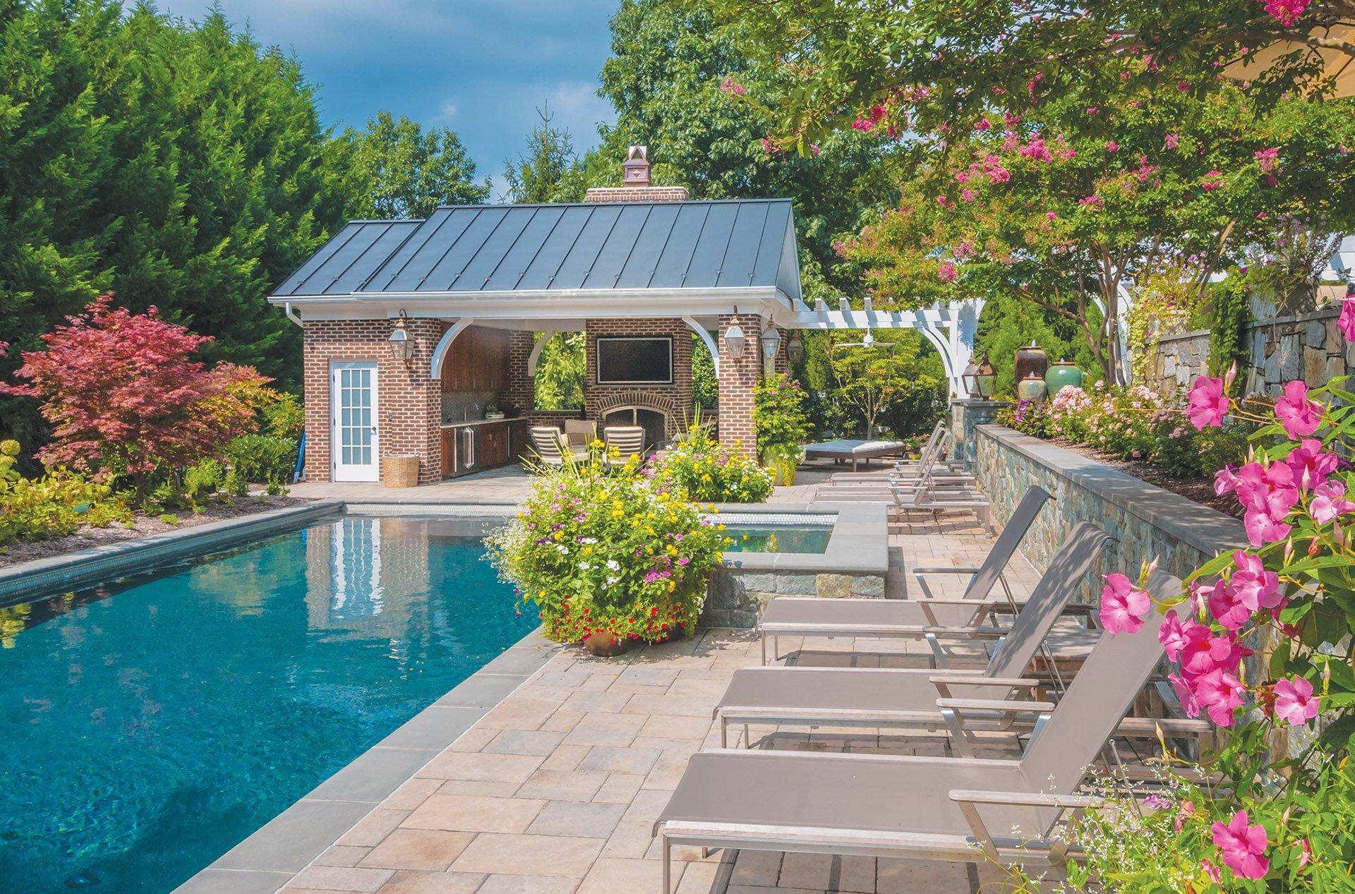 McHale Landscape, brick pool house